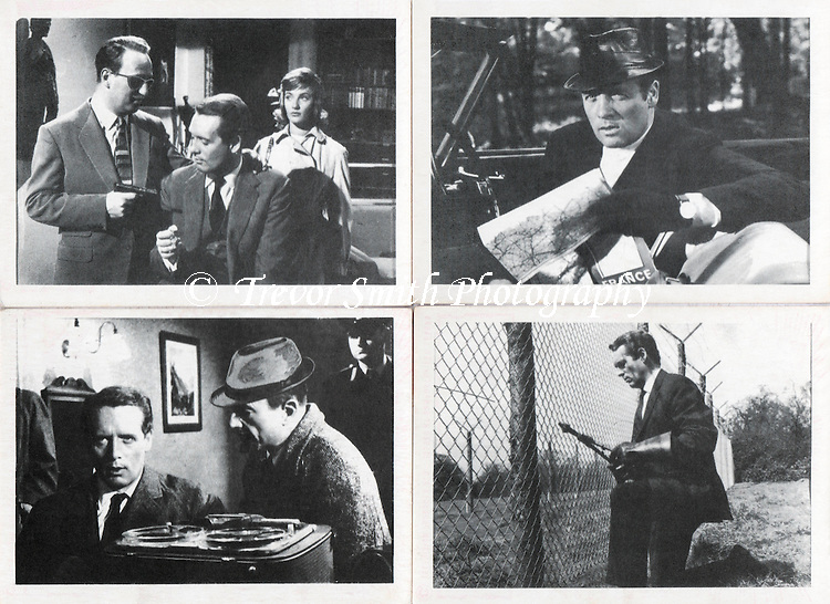 Danger Man bubble gum cards issued by Somportex in 1965 featuring Patrick  McGoohan as John Drake