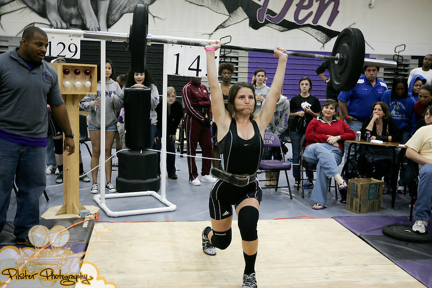 Wednesday, January 28, 2009, during state qualifying for girls weightlifting at Timber Creek High School in Orlando. (Chad Pilster, PilsterPhotography.net)