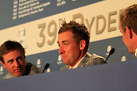 Ian Poulter at the final press conference of the 39th Ryder Cup at Medinah Country Club, Chicago, Illinois  (Photo Colum Watts/www.golffile.ie)