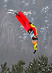 16 January 2009: Mengtao Xu from China performs aerial acrobatics during the FIS Freestyle World Cup warm-ups at the Olympic Ski Jumping Facility in Lake Placid, NY, USA. Mandatory Photo Credit: Ed Wolfstein Photo. Contact: Ed Wolfstein, Burlington, Vermont, USA. Telephone 802-864-8334. e-mail: ed@wolfstein.net