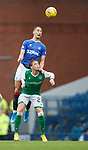 11.08.2019 Rangers v Hibs: Nikola Katic and Scott Allan