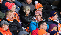 Blackpool fans watch their team in action <br /> <br /> Photographer Chris Vaughan/CameraSport<br /> <br /> The EFL Sky Bet League One - Burton Albion v Blackpool - Saturday 16th March 2019 - Pirelli Stadium - Burton upon Trent<br /> <br /> World Copyright &copy; 2019 CameraSport. All rights reserved. 43 Linden Ave. Countesthorpe. Leicester. England. LE8 5PG - Tel: +44 (0) 116 277 4147 - admin@camerasport.com - www.camerasport.com