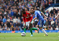 Pictured: Nathan Dyer goes past Mata<br />
