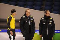 SCHAATSEN: HEERENVEEN: 30-10-2014, IJsstadion Thialf, Topsporttraining, Sven Kramer, Jac Orie (trainer Team LottoNL/ - Jumbo), Bjarne Rykkje, ©foto Martin de Jong