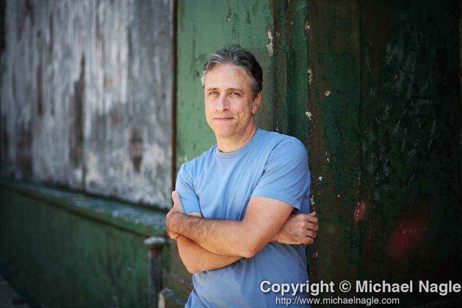 NEW YORK - AUGUST 07, 2008:  Jon Stewart poses for a portrait on W. 52nd Street on August 07, 2008 in New York City.  (PHOTOGRAPH BY MICHAEL NAGLE)