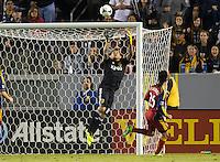 CARSON, California - November 3, 2013: The LA Galaxy  defeated Real Salt Lake 1-0 during a Major League Soccer (MLS) playoff game at StubHub Center stadium.