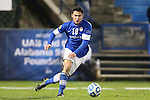 07 December 2012: Creighton's Timo Pitter (GER). The Creighton University Bluejays played the Indiana University Hoosiers at Regions Park Stadium in Hoover, Alabama in a 2012 NCAA Division I Men's Soccer College Cup semifinal game. Indiana won the game 1-0.