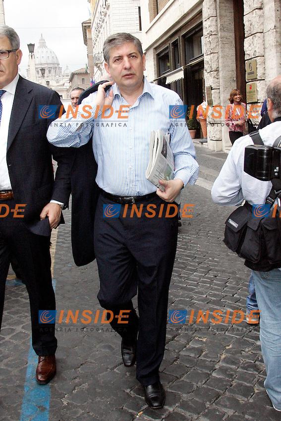 mario landolfi.Roma 01/07/2011 Consiglio Nazionale del PDL..Photo Samantha Zucchi Insidefoto