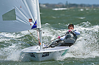 Laser Radial / Zoe THOMSON (AUS)<br /> ISAF Sailing World Cup Final - Melbourne<br /> St Kilda sailing precinct, Victoria<br /> Port Phillip Bay Friday 9 Dec 2016<br /> &copy; Sport the library / Jeff Crow