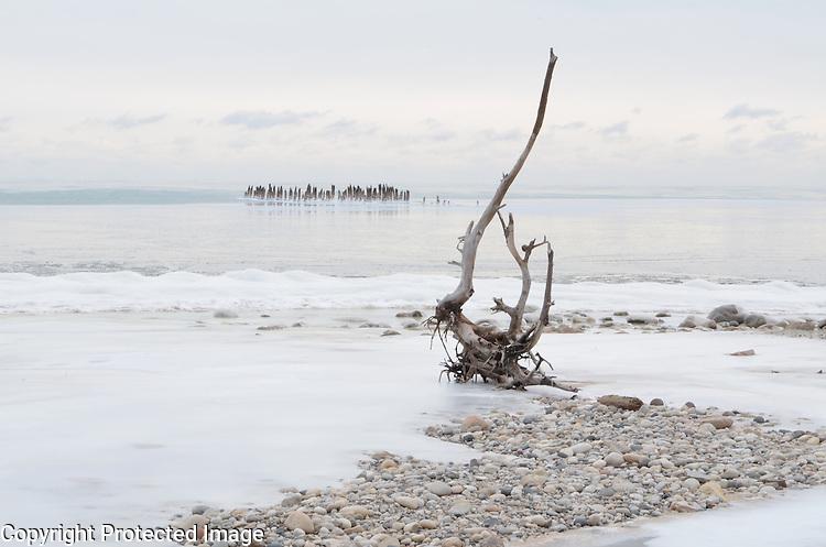 Lake Michigan morning on January 23, 2013.