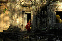 Budhist Monk at Temple