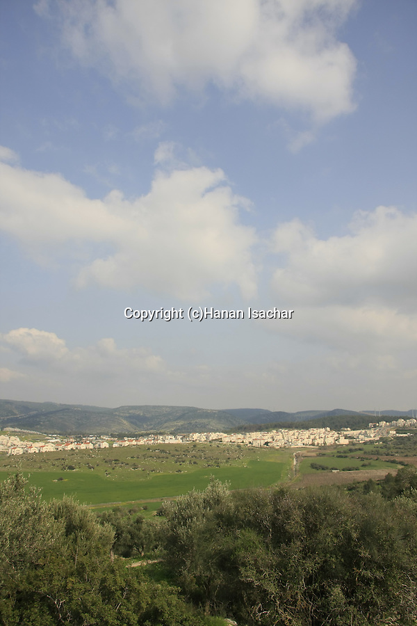 Israel, Shephelah, a view of Beth Shemesh from Bet Gemal