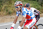 Polka Dot Jersey Luis Angel Mate Mardones (ESP) Cofidis from the breakaway group during Stage 11, the longest of this year's race, of the La Vuelta 2018, running 207.8km from Mombuey to Ribeira Sacra. Luintra, Spain. 5th September 2018.<br /> Picture: Unipublic/Photogomezsport | Cyclefile<br /> <br /> <br /> All photos usage must carry mandatory copyright credit (&copy; Cyclefile | Unipublic/Photogomezsport)