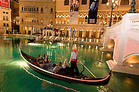 TAE-Venetian Exterior, Gondolas & Fountain at Twlight, Las Vegas, NV 2 12