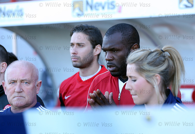 An emotional Christian Nade of Hamilton during the minutes silence for the victims of the Paris attacks