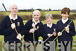 Teeing off at the Castleisland Golf club Captain's drive was Donie O'Shea President, Dan Nelligan Captain, Margaret Sheahan Lady Captain and Babs Kelleher Lady president on Sunday