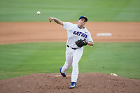 Florida Gators starting pitcher Alex Faedo (21) delivers a pitch to the plate against the Wake Forest Demon Deacons in Game One of the Gainesville Super Regional of the 2017 College World Series at Alfred McKethan Stadium at Perry Field on June 10, 2017 in Gainesville, Florida.  (Brian Westerholt/Four Seam Images)