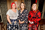 Tracy Connelly, Ann Ronayne and Lorraine O'Sullivan from the Kerry County Council, enjoying the Greatest Showman Christmas Party in the Ballygarry House Hotel on Friday night