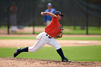 GCL Astros pitcher Franny Cobos (27) during a Gulf Coast League game against the GCL Mets on August 10, 2019 at FITTEAM Ballpark of the Palm Beaches Training Complex in Palm Beach, Florida.  GCL Astros defeated the GCL Mets 8-6.  (Mike Janes/Four Seam Images)