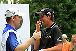 Matteo Manassero (ITA) jokes with his caddy Ryan McGuigan on the 10th tee during the Pro-Am Day of the BMW International Open at Golf Club Munchen Eichenried, Germany, 22nd June 2011 (Photo Eoin Clarke/www.golffile.ie)