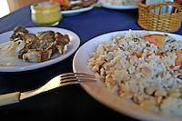 Fortaleza_CE, Brasil...Bisteca de carneiro com feijao verde prato tipico de Fortaleza, Ceara...The Bighorn Ram bisteca with green bean, typical food in Fortaleza, Ceara...FOTO: BRUNO MAGALHAES /  NITRO