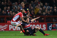 Josh Parker of Charlton Athletic and Doncaster's Herbie Kane in a midfield tussle during Charlton Athletic vs Doncaster Rovers, Sky Bet EFL League 1 Play-Off Football at The Valley on 17th May 2019