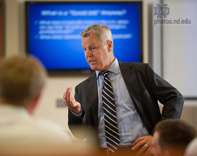 Sept. 11, 2013; Professor Joe Holt, Mendoza College of Business<br /> <br /> Photo by Matt Cashore/University of Notre Dame