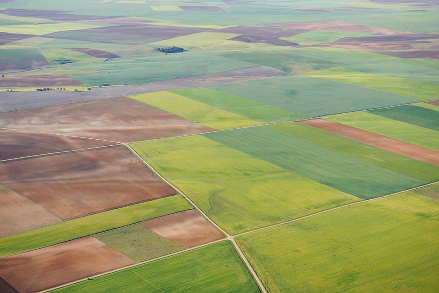 Aerial image<br /> farmland  Salamanca Region, Castilla y Le&oacute;n, Spain