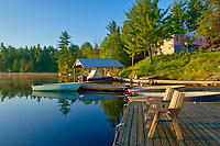Lodge at Snake Island Lake in the White Bear Forest Conservation Reserve<br />