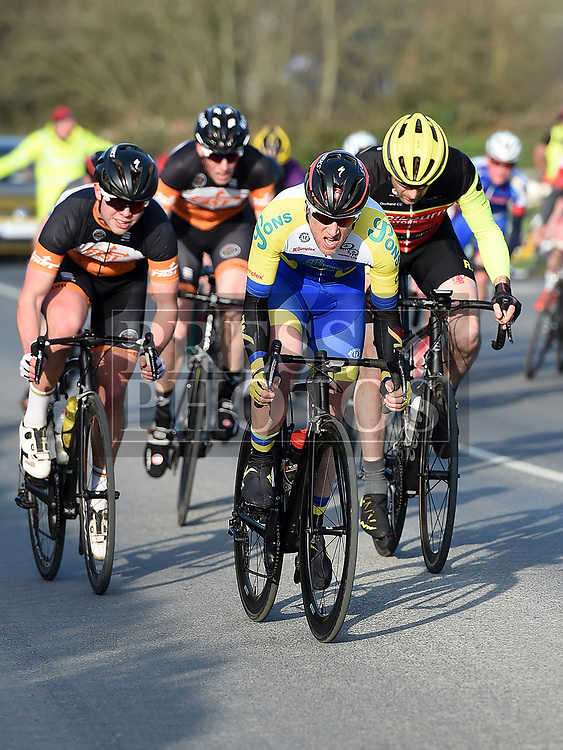 Barry Hughes riding for Drogheda Wheelers in the 10th Anniversary edition of the Peter Bidwell Memorial cycle race at Donore. Photo:Colin Bell/pressphotos.ie