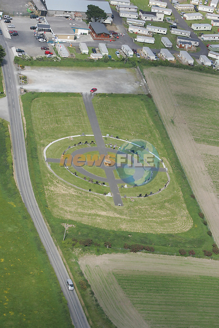 Aerial view of Clogherhead Graveyard....Photo NEWSFILE/Fran Caffrey.(Photo credit should read Fran Caffrey/NEWSFILE)....This Picture has been sent you under the condtions enclosed by:.Newsfile Ltd..The Studio,.Millmount Abbey,.Drogheda,.Co Meath..Ireland..Tel: +353(0)41-9871240.Fax: +353(0)41-9871260.GSM: +353(0)86-2500958.email: pictures@newsfile.ie.www.newsfile.ie.FTP: 193.120.102.198...This picture is from Fran Caffrey@newsfile.ie