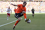 14 JUN 2010:  Robin van Persie (NED)(9) brings the ball down with his foot.  The Netherlands National Team defeated the Denmark National Team 2-0 at Soccer City Stadium in Johannesburg, South Africa in a 2010 FIFA World Cup Group E match.