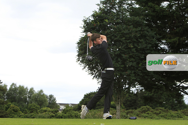 Ross Kelly (Tuam) on the 15th tee during R2 of the 2016 Connacht U18 Boys Open, played at Galway Golf Club, Galway, Galway, Ireland. 06/07/2016. <br /> Picture: Thos Caffrey | Golffile<br /> <br /> All photos usage must carry mandatory copyright credit   (&copy; Golffile | Thos Caffrey)