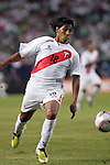 June 08 2008:  Juan Marino (Hercules / SPA) (18) of Peru.  During the third and final match of Mexico's 2008 USA Tour in preparation for qualification for FIFA's 2010 World Cup, the national soccer team of Mexico defeated Peru 4-0 at Soldier Field, in Chicago, IL.