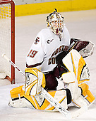 Joe Pearce - The Boston College Eagles and Ferris State Bulldogs tied at 3 in the opening game of the Denver Cup on Friday, December 30, 2005, at Magness Arena in Denver, Colorado.  Boston College won the shootout to determine which team would advance to the Final.