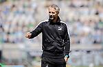 Trainer Marco Rose (Bor. Moenchengladbach) ballt die Faust vor dem Spiel.<br /><br />27.06.2020, Fussball, 1. Bundesliga, Saison 2019/20, 34. Spieltag, Borussia Moenchengladbach - Hertha BSC Berlin, <br /><br />Foto: MORITZ MUELLER/POOL/via/Meuter/Nordphoto<br />Only for Editorial use