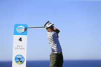 Kevin Na (USA) tees off the 4th tee at Spyglass Hill during Thursday's Round 1 of the 2018 AT&amp;T Pebble Beach Pro-Am, held over 3 courses Pebble Beach, Spyglass Hill and Monterey, California, USA. 8th February 2018.<br /> Picture: Eoin Clarke | Golffile<br /> <br /> <br /> All photos usage must carry mandatory copyright credit (&copy; Golffile | Eoin Clarke)