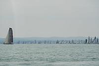 Blue Ribbon Regattta race along the 160 km course around Lake Balaton near Balatonfured, 150 km (93 miles) west of Budapest in Hungary on July 18, 2019. ATTILA VOLGYI