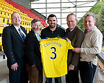 St Johnstone Players Sponsors Night, McDiarmid Park...09.05.12.Callum Davidson.Picture by Graeme Hart..Copyright Perthshire Picture Agency.Tel: 01738 623350  Mobile: 07990 594431