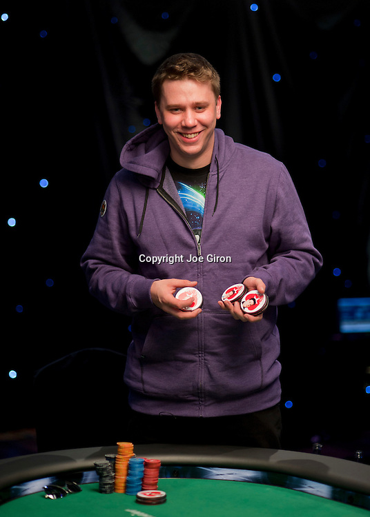 Table winner Kevin MacPhee shows the bounties he collected.