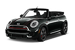 2017 Mini Cooper John Cooper Works 2 Door Convertible angular front stock photos of front three quarter view