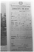 Conductor's time report.  Note that a D&amp;RGW form is used for a Telluride operation during this time period.<br /> RGS    12/18/1918
