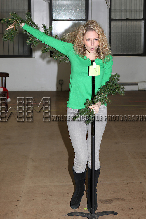 Lauren Molina attending the Rehearsal for the Bucks County Playhouse production of 'It's a Wonderful Life - A Live Radio Play' at their rehearsal studios in New York City on December 5, 2012.