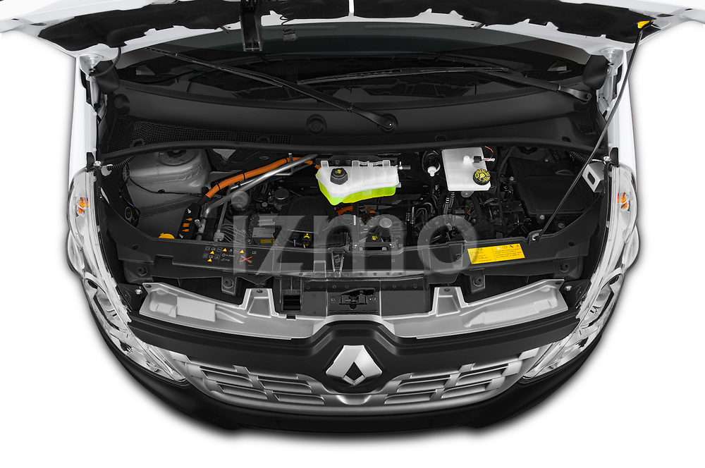 Car stock 2019 Renault Master-Z.E. Base 4 Door Cargo Van engine high angle detail view