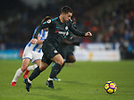 Eden Hazard of Chelsea surges forward during the premier league match at the John Smith's Stadium, Huddersfield. Picture date 12th December 2017. Picture credit should read: Simon Bellis/Sportimage