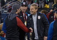 Columbus, Ohio - Friday, November 11, 2016: Jurgen Klinsmann during a USMNT vs Mexico WCQ at Mapfre Stadium. Mexico defeated the USA 2-1.