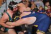 Spencer Matthaei of Locust Valley left, battles Tom Amato of Massapequa at 285 pounds during a non-league varsity wrestling meet at Massapequa High School on Wednesday, Dec. 16, 2015. Matthaei won by decision 3-1.