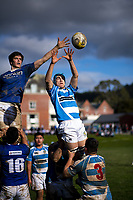 Action from the Wellington premier college rugby union match between St Pat's Silverstream and St Pat's Town at Silverstream College in Upper Hutt, New Zealand on Wednesday, 24 July 2019. Photo: Dave Lintott / lintottphoto.co.nz