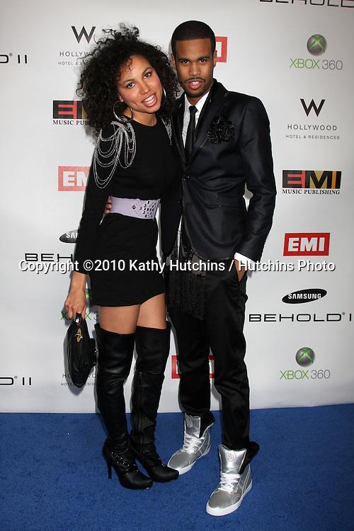Jurnee Smollett & Josiah Bell.arriving at the EMI Post Grammy Party 2010.W Hotel Hollwood.Los Angeles, CA.January 31, 2010.©2010 Kathy Hutchins / Hutchins Photo....