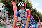 Thibaut Pinot (FRA) Groupama-FDJ arrives at sign on before Stage 3 of the Route d'Occitanie 2020, running 163.5km from Saint-Gaudens to Col de Beyrède, France. 3rd August 2020. <br /> Picture: Colin Flockton | Cyclefile<br /> <br /> All photos usage must carry mandatory copyright credit (© Cyclefile | Colin Flockton)
